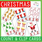 Christmas Counting Clip Card Printables