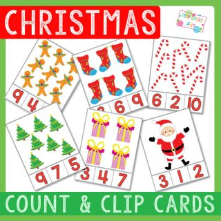 Christmas Count and Clip Cards
