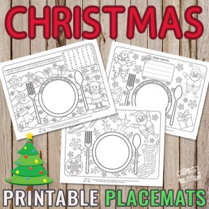 Christmas Placemats for Kids