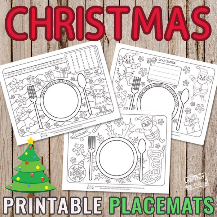 image regarding Printable Placemats for Preschoolers referred to as Printable Xmas Placemats - Itsy Bitsy Pleasurable