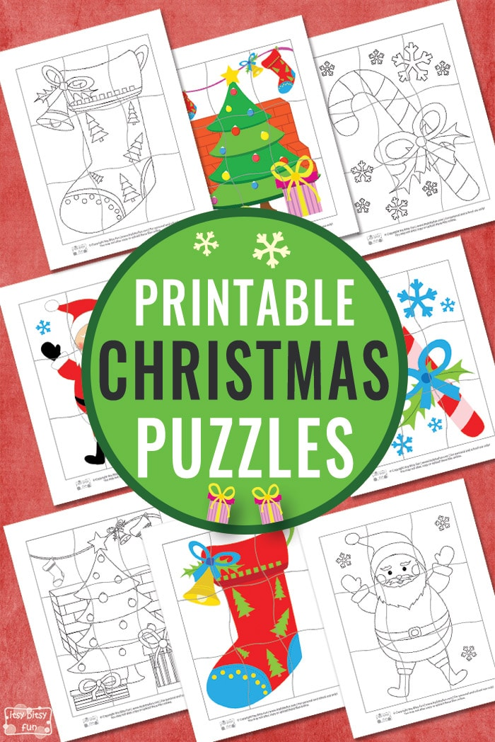 Christmas Puzzles for Kids #freeprintablesforkids #printableactivityforkids #Christmasprintablesforkids