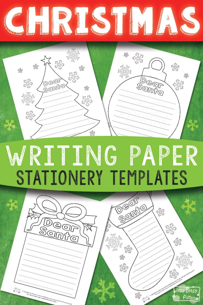 Free Printable Christmas Writing Stationery Papers for Kids #freeprintablesforkids #Christmasprintablesforkids #printableactivitiesforkids