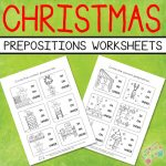 Christmas Theme - Circle the Prepositions of Place