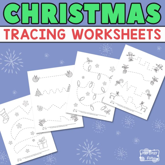 Christmas Tracing Worksheets for Kids