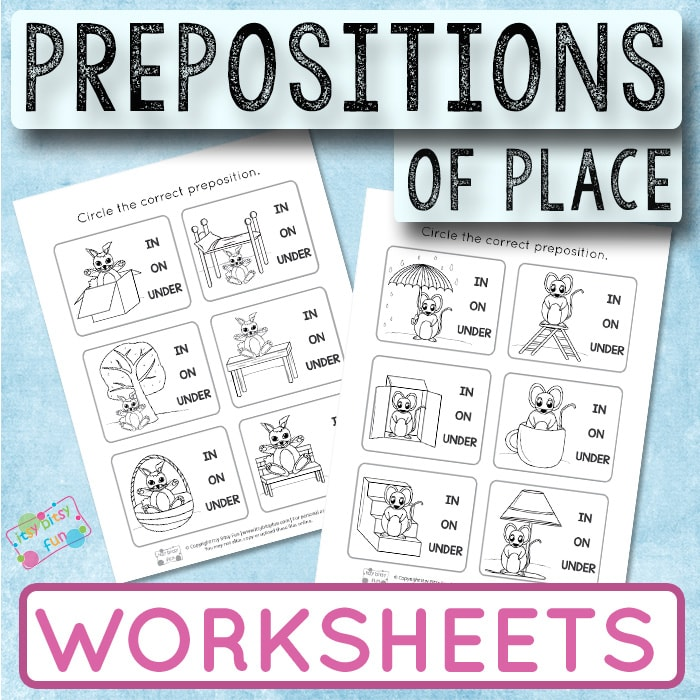 Prepositions of Place Worksheets for Kids