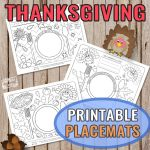 Printable Thanksgiving Day Placemats