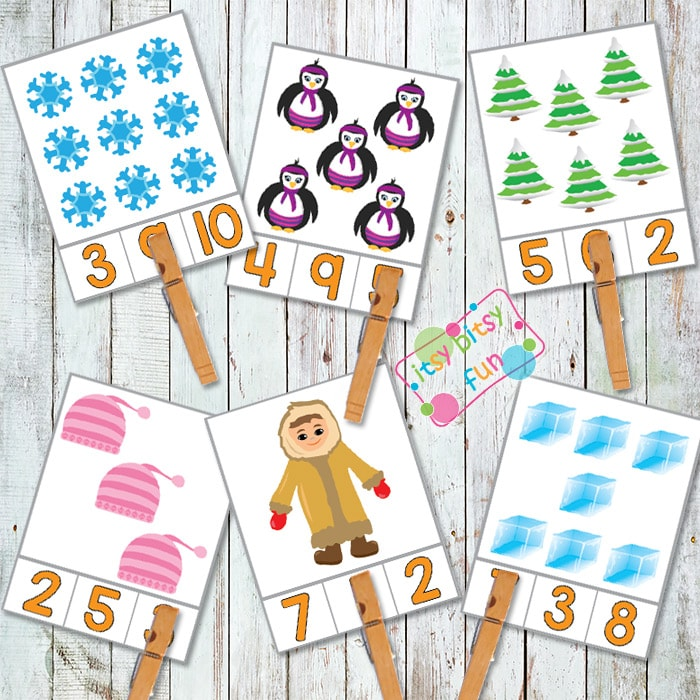 Winter Counting with Clip Cards