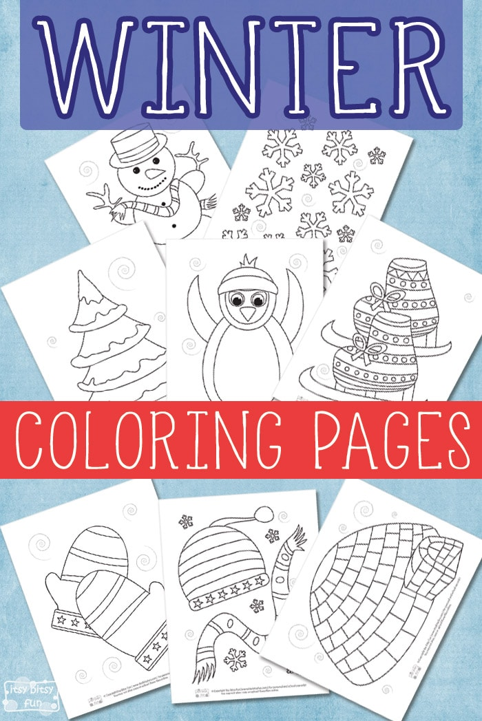 Free Printable Winter Coloring Pages for Kids to Color #freecoloringpagesforkids #freeprintablesforkids #winterprintablesforkids