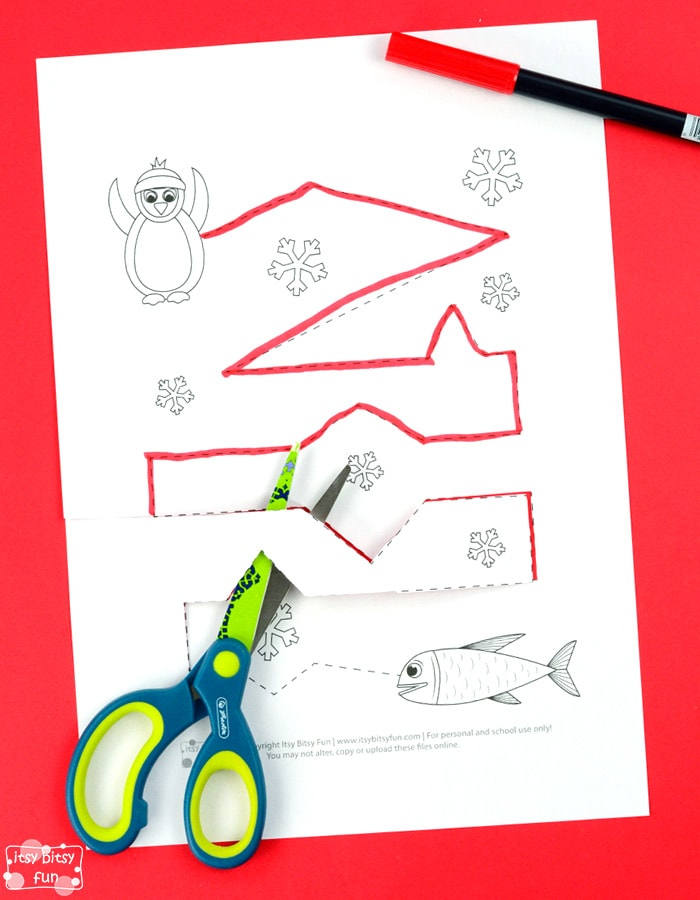 Winter Tracing Free Printable Worksheets