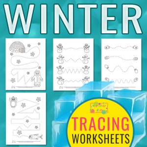 Winter Tracing Worksheets