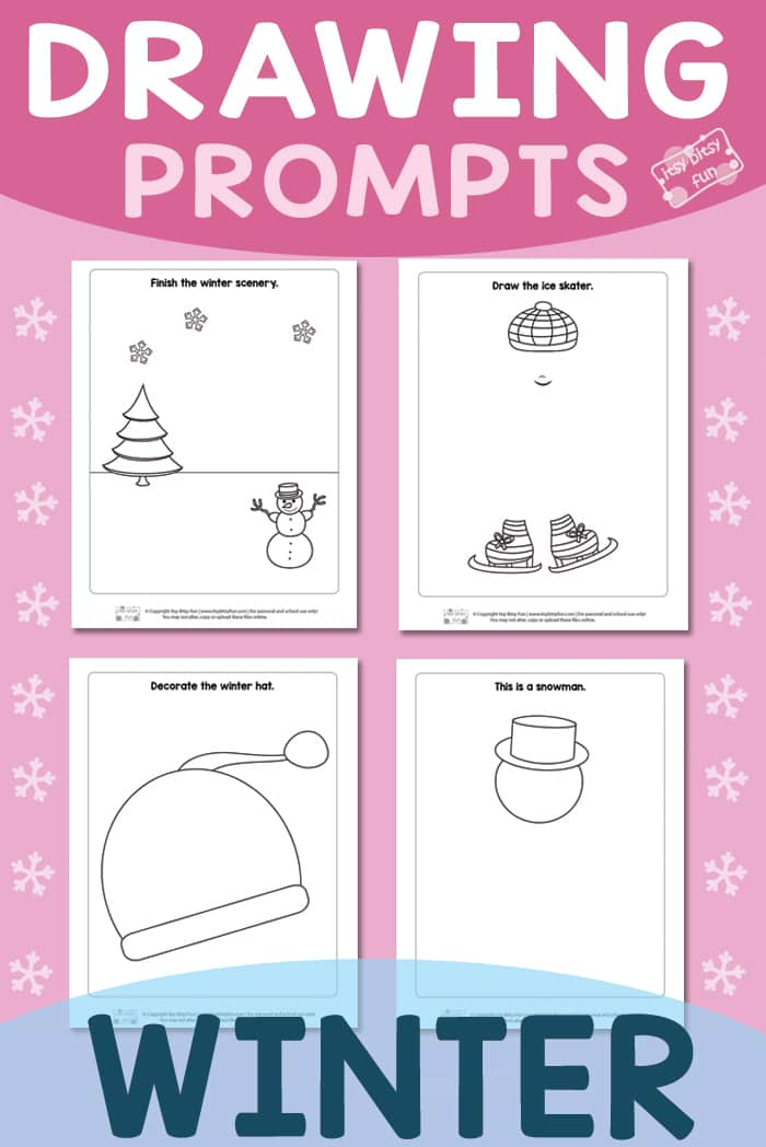 Free Printable Winter Drawing Prompts for Kids