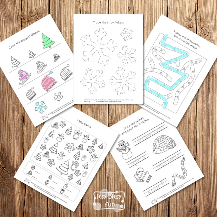 Fun Winter Worksheets