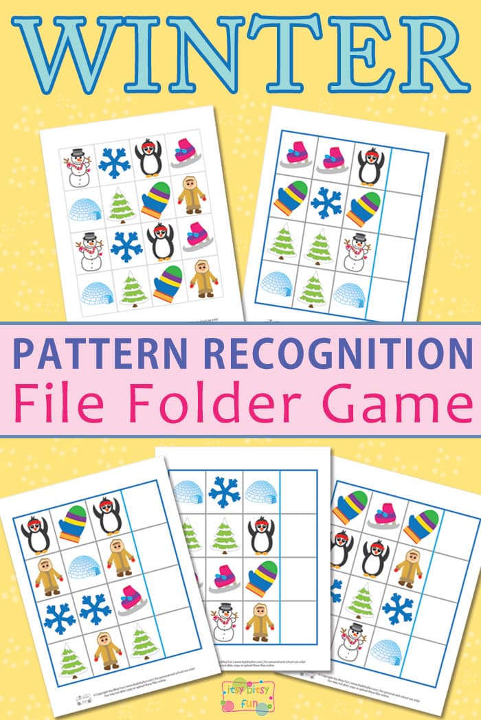 Free Printable Winter Pattern Recognition Worksheets for Preschool