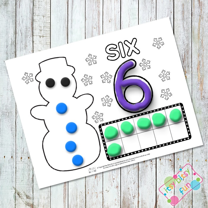 Printable Winter Play Dough Mats - Counting to Ten