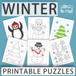 Printable Winter Puzzles for Kids