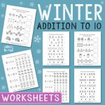 Winter Addition Worksheets to 10