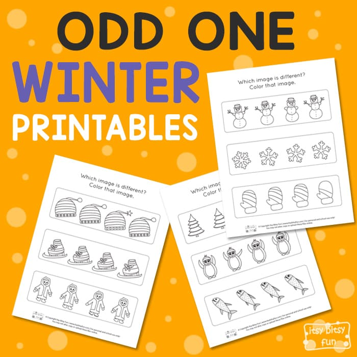 Winter - Find the Odd One Printable