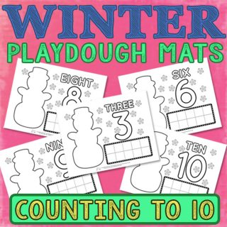 Winter Playdough Mats Counting to 10