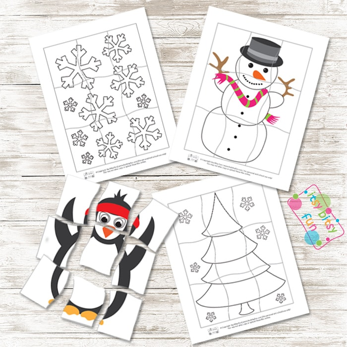 Winter Printable Puzzles Pack