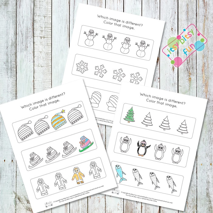 Winter Printables - Odd One