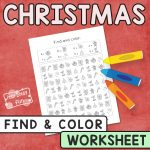 Christmas Find and Color Worksheet