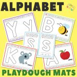 Alphabet Playdough Mats for Pre-K and K