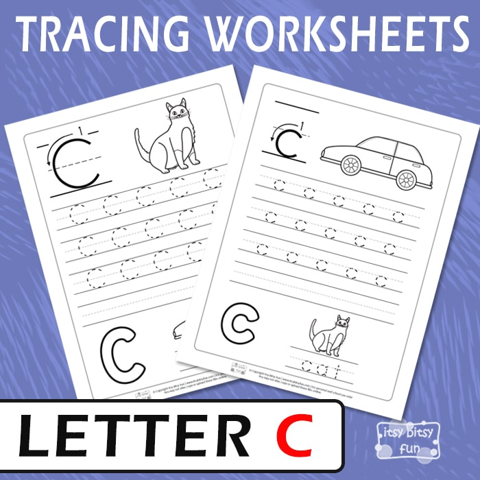 Letter C Tracing Worksheets Itsy Bitsy Fun