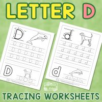 Letter D Tracing Worksheets