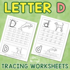 Letter D Tracing Worksheets