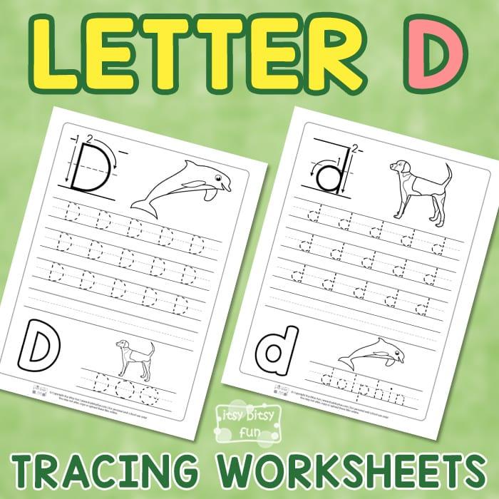 Letter D Tracing Wroksheets