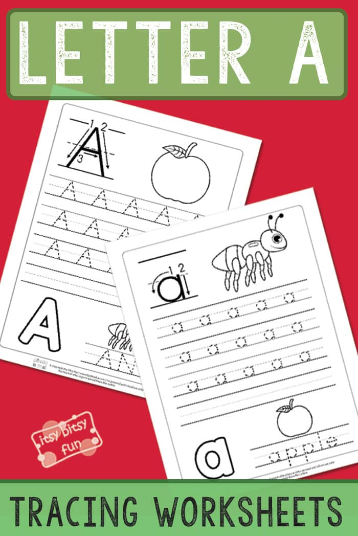 Printable letter a tracing worksheets for preschool and kindergarten. #freeworksheetsforkids #lettertracing #alphabetworksheets