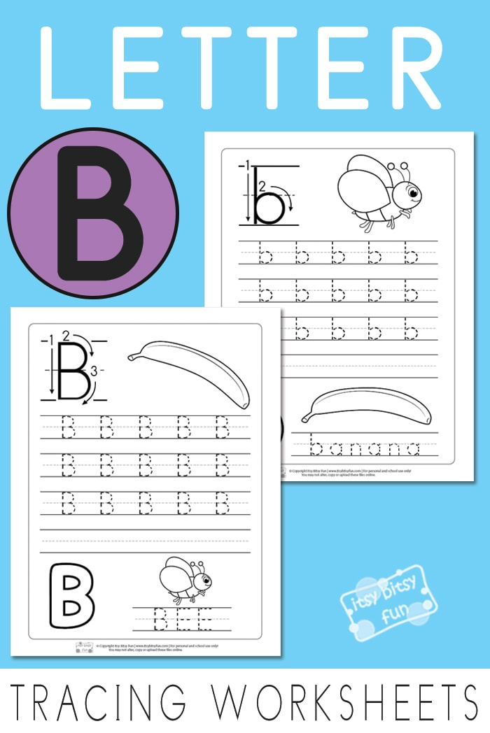 Printable Letter B Worksheets for Preschool and Kindergarten #freeworksheetsforkids #lettertracing #alphabetworksheets