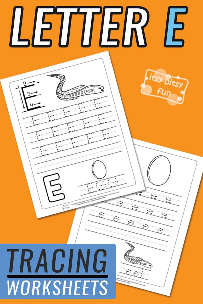 Letter E Tracing Worksheets for Kids #alphabettracing #freeprintables #preschool