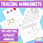 Tracing Worksheets – Pre-Writing Practice, Letters of The Alphabet, Numbers and More