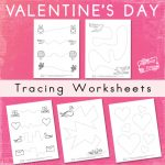 V-Day Tracing Worksheets
