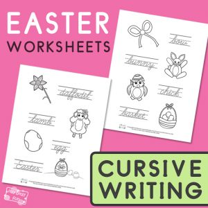 Easter Cursive Writing Worksheets