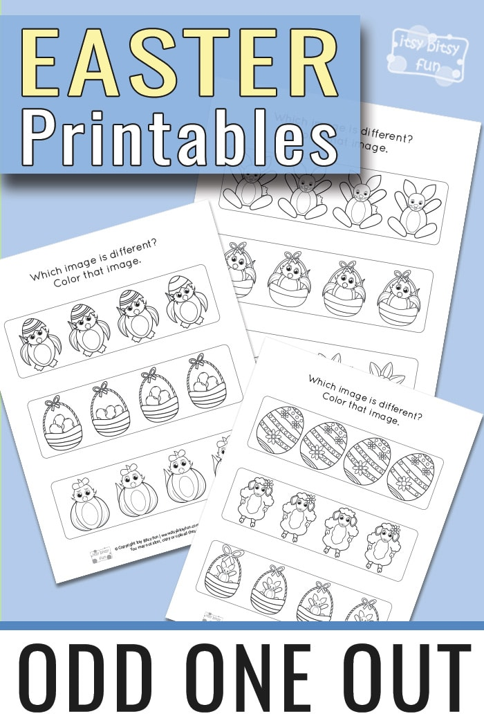 Easter Odd One Out Worksheets - Itsy Bitsy Fun