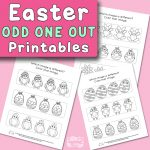 Easter Odd One Out Printables