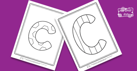 Coloring Pages For Letter C : Letter c coloring pages itsy bitsy fun