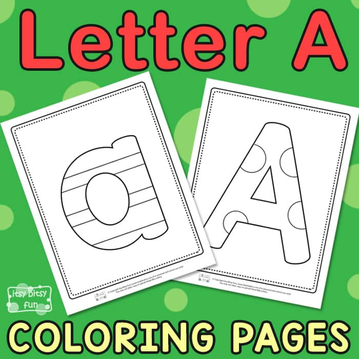 Letter A Coloring Pages for Kids