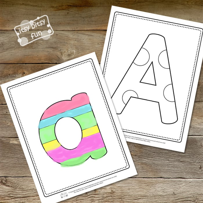 Letter A Pages for Coloring