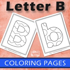 Letter B Coloring Pages for Kids