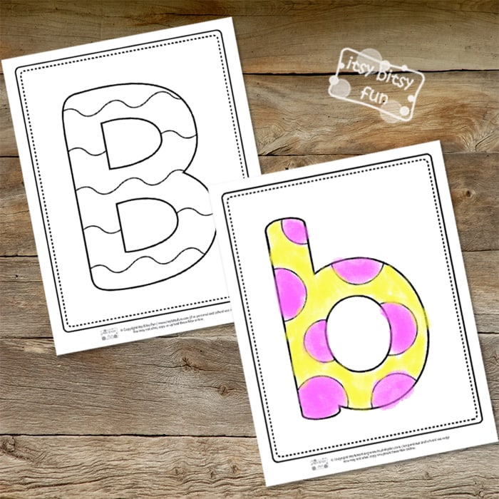 Letter B Pages for Coloring