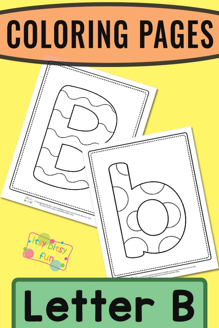 Letter B Coloring Pages Itsybitsyfun Com