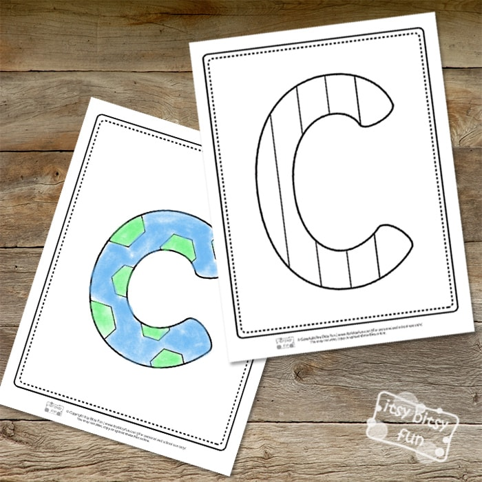 Letter C Pages for Coloring