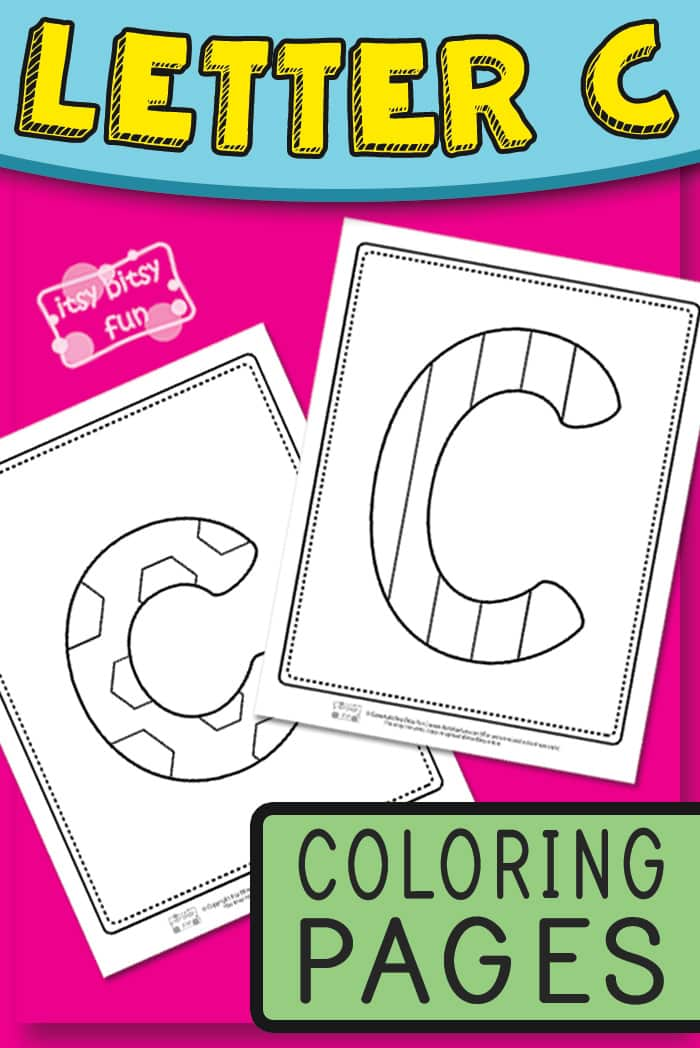 Letter C Pages to Color