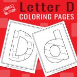 Letter D Coloring Pages for Kids