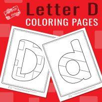Letter D Coloring Pages