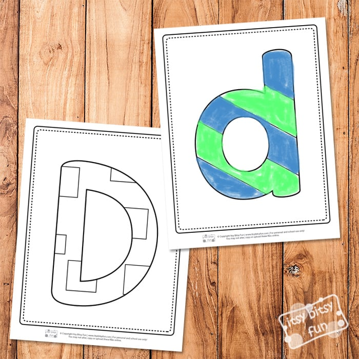 Letter D Pages for Coloring
