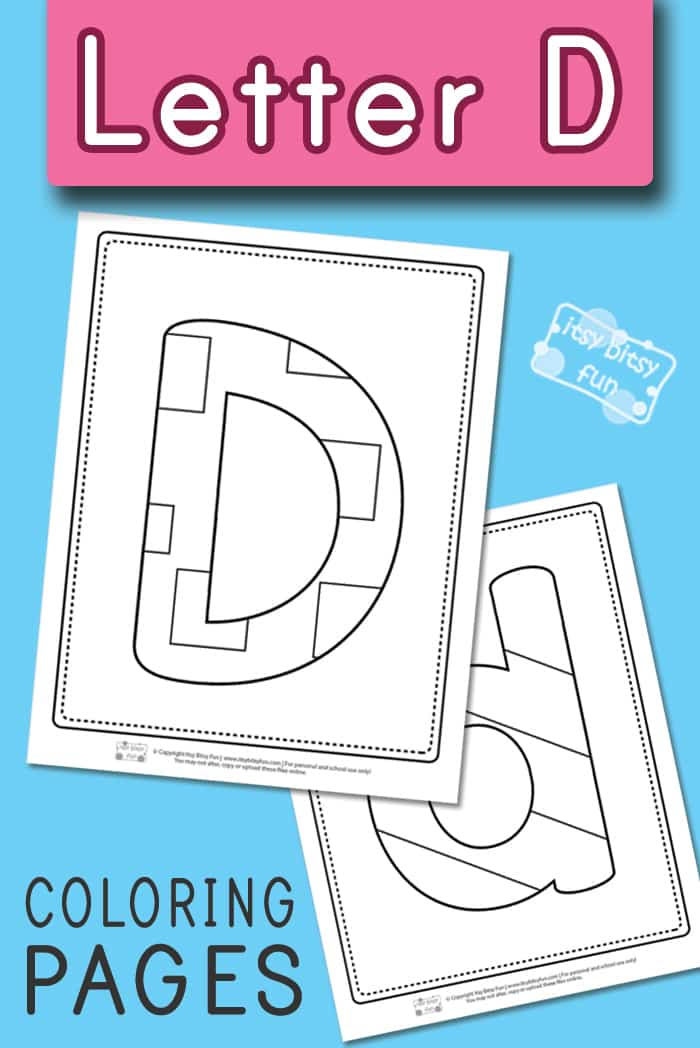 Letter D Pages to Color